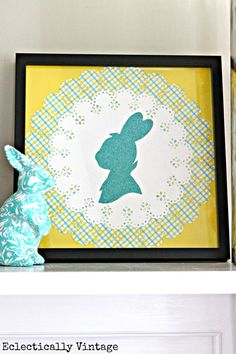 DIY Bunny Silhouette www.eclecticallyvintage.com
