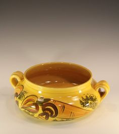 Los Angeles Potteries 70s Harvest Gold Bowl by ThatOtherRabbit, $15.00