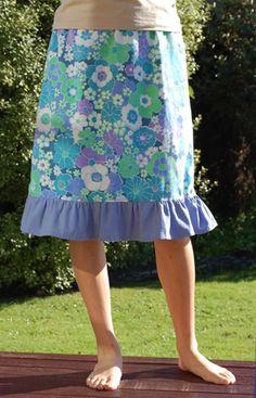 Ruffle Skirt tutorial    Emu for Sew,Mama,Sew!