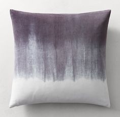 RH's Hand-Dyed Shibori Velvet Ombré Pillow Cover - Square:In homage to shibori, the ancient Japanese art of resist-dyeing fabric, designer Kevin O'Brien reinterprets its bold effects on lush cotton velvet. Employing methods in use for over a thousand years, artisans in a small Nepalese workshop loosely fold the matte fabric, bind it with string and dip it in pigment. The results are patterns that evoke the translucence of watercolor, each pillow beautifully handcrafted and one of a ...