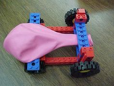 Lego Balloon Race Cars -- Best Kids' Crafts for Boys