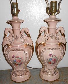 lamp detail-I love my new vintage lamp | swan art ...
