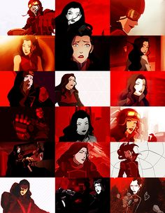 """ ""You can't be afraid to mix it up sometimes"" color meme: Asami Sato in red """