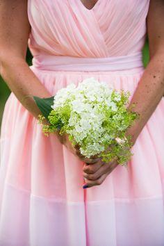 Simple white hydrangea bouquet