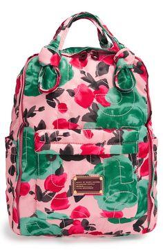 rose print backpack - LOVE