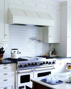 this would be okay too if I had to settle - 3rd choice for range hood. Also Love these drawers and cabinets.