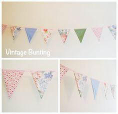 Vintage Bunting to hire from www.buntingbyjenny.com Vintage Bunting, Stuff To Buy, Collection