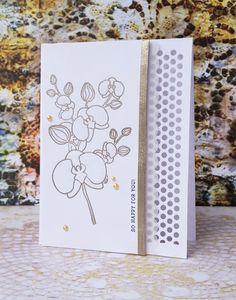 Orchid Card, Clean Simple Card, Flower Card, Wedding Card