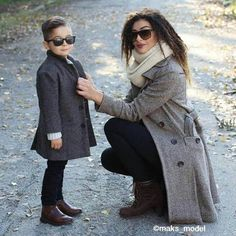 Cute Mother Son Outfit Ideas 10