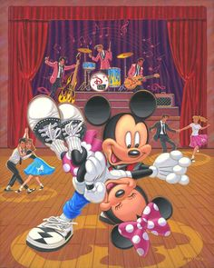 """""""King of Swing"""" by Manuel Hernandez   Disney Fine Art   Disney's Mickey and Minnie Mouse"""