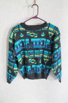 Vintage Tribal Print Ugly Sweater