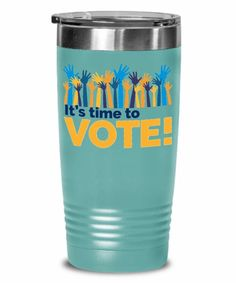 It's Time To Vote Tumbler - Gift Voting - Vote Tumbler, USA Election Tumbler, Political Gifts - Get Out the Vote Tumbler - Register and Vote Tumbler - 2020 Elections Tumbler Get Out The Vote, Traveling Teacher, Getting Out, Travel Mug, Tumbler, Politics, Mugs, Shot Glass, Day