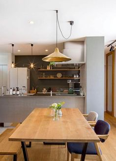 Cafe Interior Design, Kitchen Interior, Kitchen Design, Natural Interior, Minimalist Architecture, Kitchen Living, Dining Room, House, Furniture