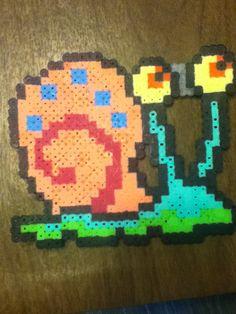 Gary SpongeBob perler beads by LiquidLuckLiam on deviantart