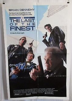 The Last of the Finest 1990 Movie Poster Brian Dennehy Bill Paxton