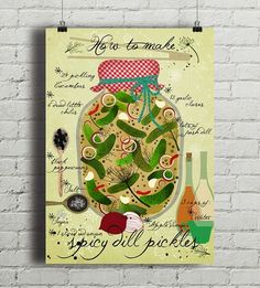 Spicy Pickles - plakat kuchenny art giclee A2