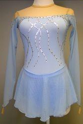 Custom Competition Dress Figure Skating Dress inspired by Disney's Frozen. Skate like Elsa! www.sk8gr8designs.com