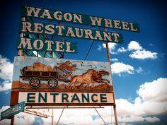 Wagon Wheel Restaurant & Motel - by Mark Peacock Oxnard California, Vintage Neon Signs, I Love La, California History, Ventura County, Wagon Wheel, Business Signs, Love Home, Neon Lighting