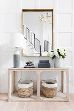 Entryway Console Table, Entryway Decor, Entryway Ideas, Console Tables, Entry Tables, Entry Foyer, Modern Entryway, Entrance Ideas, Entryway Furniture