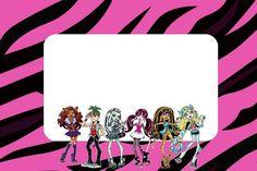 Monster High: invitaciones para imprimir gratis.