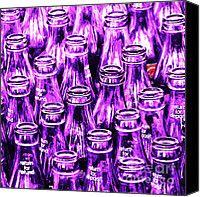 purple glass Coke bottles art - Wingsdomain Art and Photography