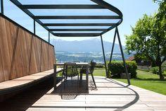 Pergola With Glass Roof Pergola Ideas For Patio, Pergola Decorations, Small Pergola, Pergola Attached To House, Pergola With Roof, Outdoor Pergola, Pergola Shade, Patio Roof, Pergola Plans