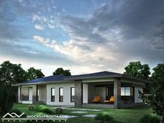One Storey House, Shed Design, Outdoor Structures, Mansions, Architecture, House Styles, Outdoor Decor, Home Decor, House Template