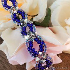 Adjustable Blue Bell Beaded Bracelet My Etsy Shop, Beaded Bracelets, Handmade, Blue, Design, Hand Made, Pearl Bracelets, Seed Bead Bracelets