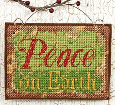Counted Cross Stitch Peace on Earth  Ornament by ToppyToppyKnits, $8.00