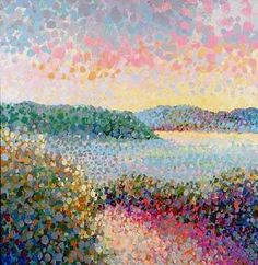 pointilism- i love how they used many different colours to make it seem like one colour.
