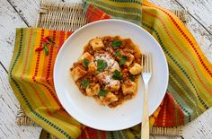 Ricotta Gnocchi with Porcini Flavored Rabbit Ragu