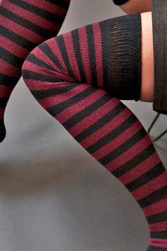 tall striped socks!