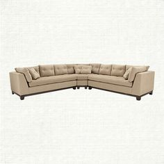 embracing the neutral palettes and minimalist approach of this popular style, our garner sectional is swathed in a soft chenille fabric accented by a Sectional Sofa, Sofas, Couch, Condo Furniture, Living Room Furniture, Grand Rapids Apartments, Family Room Decorating, Decorating Ideas, L Shaped Sofa