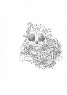 Dibujo Calavera Mejicana