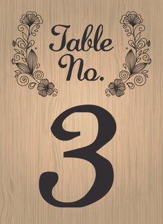 Woodsy Wreath Table Numbers - Hoopla House