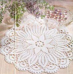 باترون مفرش كروشيه - crochet doily pattern ~ شغل ابره NEEDLE CRAFTS