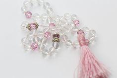 Little Love & Light wrist mala made with clear quartz and swarovski crystals. Spiritual Jewelry, Clear Quartz, Love And Light, Swarovski Crystals, Jewelry Making, Pearl Earrings, Jewellery, Beautiful, Jewelery