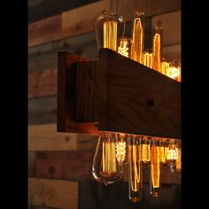 The Skyline Wood and Edison Bulb Chandelier by MoonshineLamp