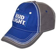 021827b9234 Quality stitching on this officially licensed Bud Light hat. Bud Light