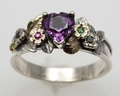 Amethyst Serenity Ring by FernandoJewelry on Etsy