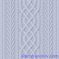 Cable pattern: 60 stitches, 24 row repeat - 2711-12 (696x695, 413Kb)