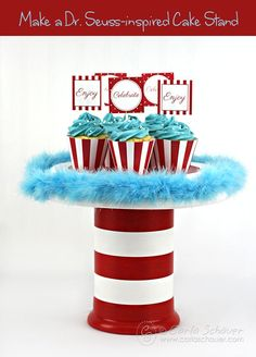 Make a Dr. Seuss-Inspired CakeStand with this DIY tutorial from carlaschauer.com