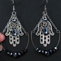 Jeweled Hamsa Earrings available here: www.scarletslounge.com...Please follow my boards. Thanks!