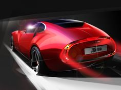 IED Cisitalia 202 E Concept Design Sketch from the Design Sketch Board http://www.carbodydesign.com/design-sketch-board/