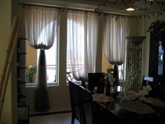 Custom Window Treatments by Creative Design Team curtains Swags And Tails, Made To Measure Curtains, Custom Window Treatments, Interior Decorating, Interior Design, Window Coverings, Damask, Creative Design, Home Improvement