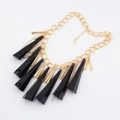 $6.30 Characteristic Cone Pendant Tassel Alloy Necklace For Women