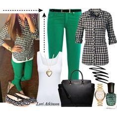Oufit verde combinación