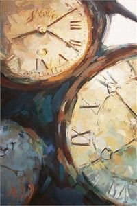 "Mary Worcester Newell Open Edition Giclee on Canvas:""Three Clocks"" - Mary Worcester Newell Watercolor Paintings Nature, Watercolor Art Diy, Clock Painting, Clock Art, Clocks, Steampunk, Clock Wallpaper, Gcse Art Sketchbook, A Level Art"