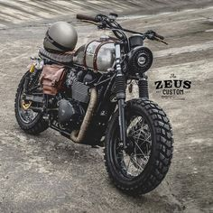 Triumph Mad Max Scrambler With Side Box Packer By Zeus Motorcycle Motorbike