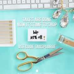 Whew! Glad that's over. Now that your taxes are done it's time to shop! Take 35% off site-wide with the code TAXSPLURGE. Offer ends Saturday